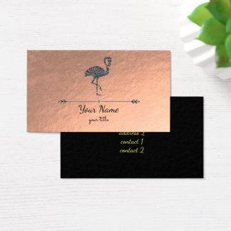 falso flamenco negro del brillo en el oro color de tarjeta de visita