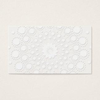 Falso fondo blanco grabado en relieve elegante tarjeta de visita