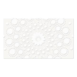Falso fondo blanco grabado en relieve elegante tarjetas de visita