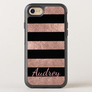 Falso fondo color de rosa del oro Foil/DIY de Funda OtterBox Symmetry Para iPhone 8/7