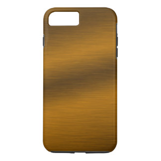Falso fondo de bronce cepillado funda iPhone 7 plus
