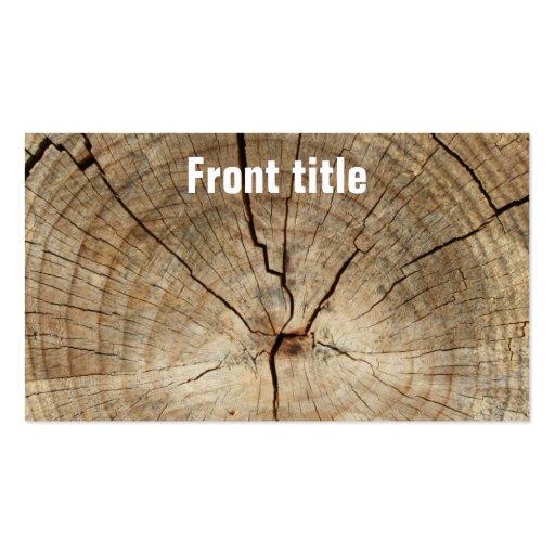 Falso fondo de los anillos de árbol tarjeta de visita