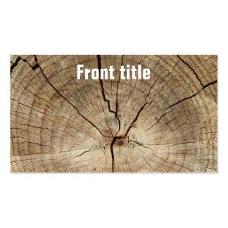 Falso fondo de los anillos de árbol tarjetas de visita