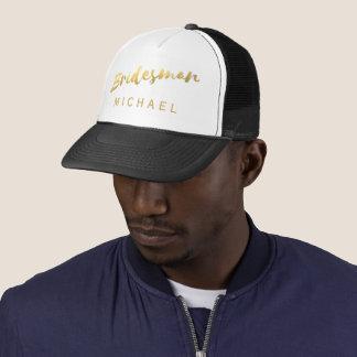 Falso gorra del camionero del boda del padrino de