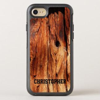 Falso iPhone de madera resistido 7 de la simetría Funda OtterBox Symmetry Para iPhone 8/7