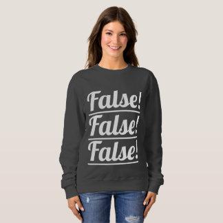 ¡Falso! La camiseta básica de las mujeres triples