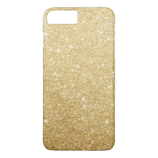 Falso lujo elegante del brillo del oro funda iPhone 7 plus