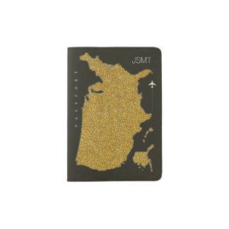 falso mapa de los E.E.U.U. del oro, viaje Portapasaportes