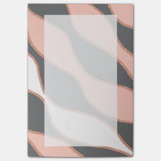 falso modelo color de rosa elegante del brillo del notas post-it®