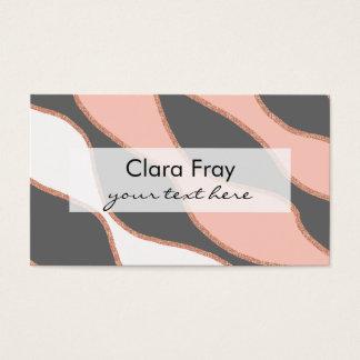 falso modelo color de rosa elegante del brillo del tarjeta de negocios
