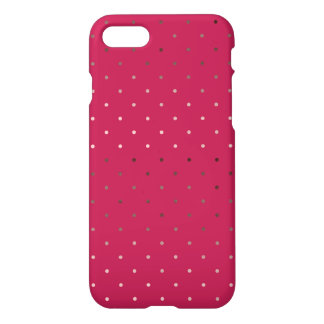 falso modelo de lunares color de rosa minúsculo funda para iPhone 8/7