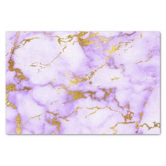Falso modelo de mármol metálico del oro elegante papel de seda