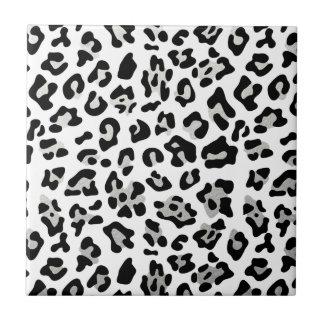 Falso modelo del estampado leopardo del negro de azulejo cuadrado pequeño