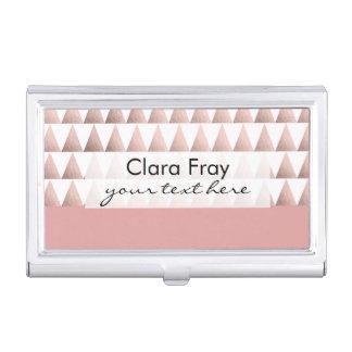 falso modelo geométrico color de rosa de los caja de tarjetas de visita