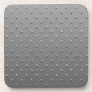Falso modelo metalizado de la pendiente gris posavasos