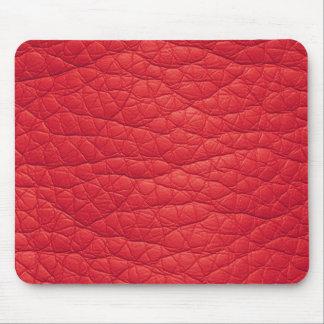 Falso Mousepad de cuero suave arrugado rojo Alfombrillas De Ratón