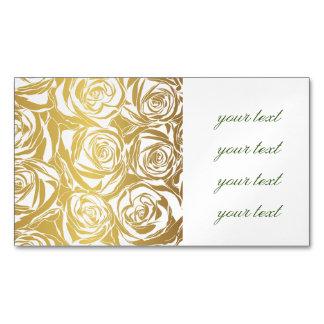 falso oro, rosas, modelo, art déco, hermoso, tarjetas de visita magnéticas (paquete de 25)