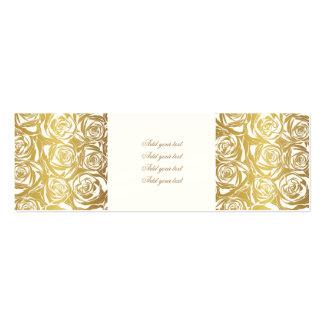 falso oro, rosas, modelo, art déco, hermoso, tarjetas de visita mini