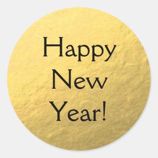 Falso pegatina brillante de la Feliz Año Nuevo de
