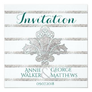 Falso personalizado de la invitación del boda del