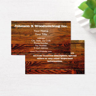 Falso personalizado personalizado tablón de madera tarjeta de visita