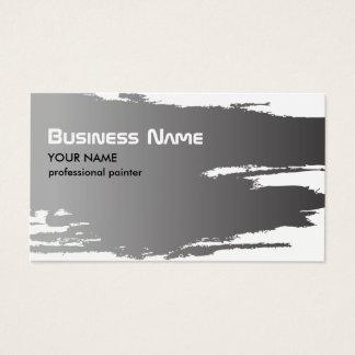 Falso pintor de plata elegante profesional tarjeta de negocios