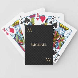 Falso póker personalizado del control del nombre baraja de cartas bicycle