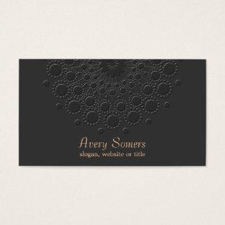 Falso profesional negro grabado en relieve tarjeta de negocios