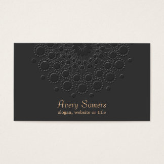 Falso profesional negro grabado en relieve tarjeta de visita