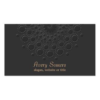 Falso profesional negro grabado en relieve tarjetas de visita