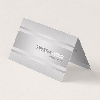 Falso profesional texturizado de plata de lujo tarjeta de visita