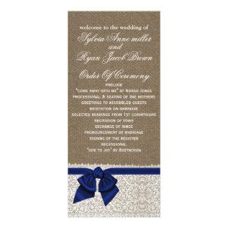 FALSO programa de la arpillera y del boda del Tarjeta Publicitaria A Todo Color