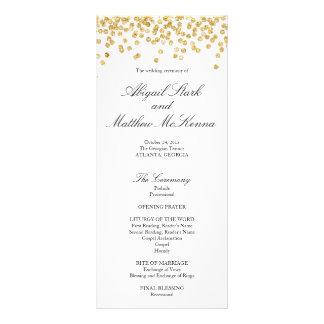 Falso programa del boda del confeti de la chispa lonas personalizadas