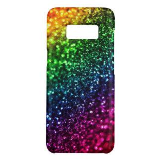 Falso purpurina del arco iris psicodélico funda de Case-Mate para samsung galaxy s8