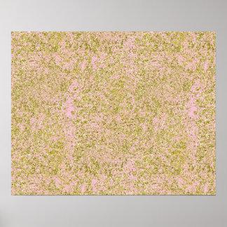 Falso rosa de la chispa del modelo del fondo del póster