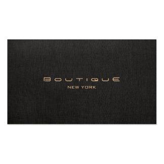 Falso único profesional de lino negro del boutique tarjetas de visita