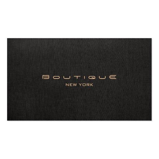 Falso único profesional de lino negro del boutique
