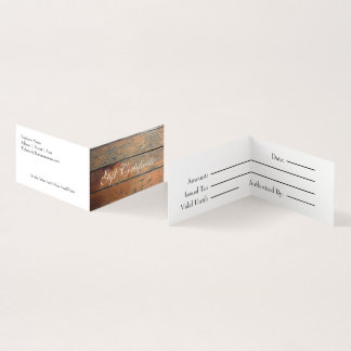 Falso vale de madera tarjeta de visita