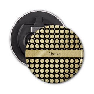 Falsos botones brillantes glamorosos del brillo abrebotellas