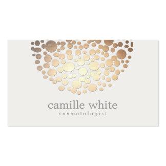 Falsos círculos del oro de la cosmetología tarjetas de visita