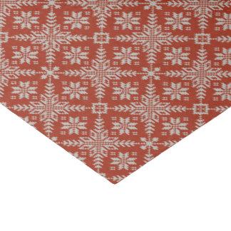 Falsos copos de nieve rojos y blancos del suéter papel de seda