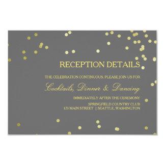 Falsos detalles de la recepción nupcial del invitación 8,9 x 12,7 cm