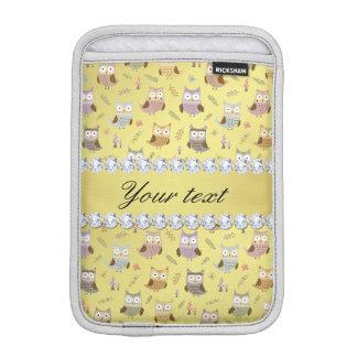 Falsos diamantes de Bling de la hoja de oro de los Funda Para iPad Mini
