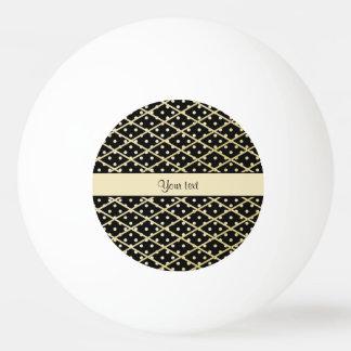 Falsos diamantes y lunares del oro pelota de ping pong