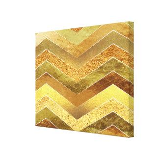 Falsos galones de moda de la hoja de oro impresión en lienzo