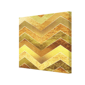 Falsos galones de moda de la hoja de oro lienzo