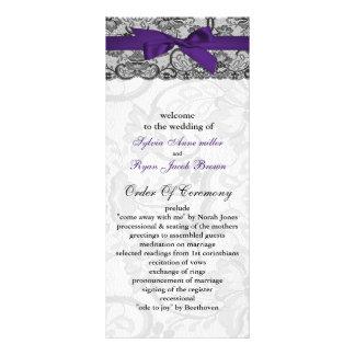 Falsos programas negros púrpuras del boda del