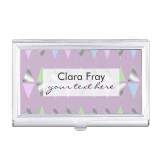 falsos triángulos geométricos claros elegantes de cajas de tarjetas de visita