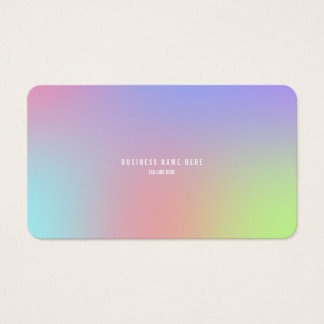 Falta de definición de la pendiente tarjeta de visita