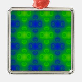 Falta de definición de neón del verde azul del mod adorno de reyes